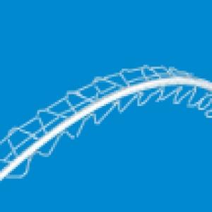 LB-Knauf sarokvédő sín íves élekhez - 2,95 m