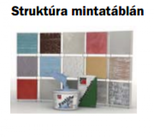 Baumit színminta minden színes termékhez - kézi mintatáblára felhordva